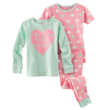 3-Piece Snug-Fit Cotton PJs