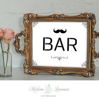 BAR sign printable sign business signs instant download signs printable signage wedding signs DIY signs retro wall art prints printable art