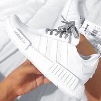 Tagre™ Adidas NMD R1 White Running Sport Casual Shoes Sneakers