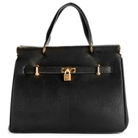 Sale-black Metal Bar Powerful Lady Handbag