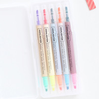 Livework 10 Colors double ended highlighter pen set