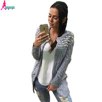 Gagaopt Sweater Women Cardigan Pull Femme Warm Female Cardigan Grey 2016 Autumn Sweater Cashmere Christmas Oversized Sweater