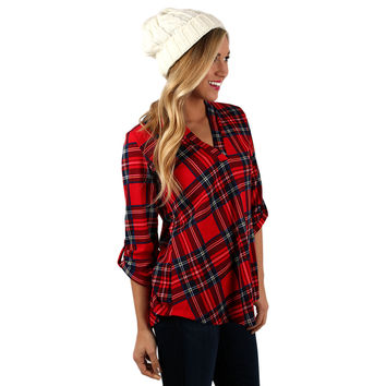 Napa Countryside Top in Red