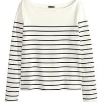 Boat-neck Sweater - from H&M