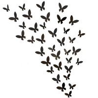 Fetco Home Decor Bursts 20 Small and 20 Large butterflies Frame