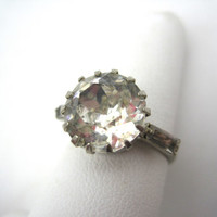 Vintage Rhinestone Ring - Adjustable