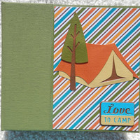 6x6 Camping Scrapbook Photo Album