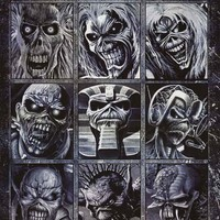 Iron Maiden Many Faces of Eddie Poster 24x36