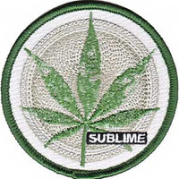 Sublime Iron-On Patch Round Leaf Logo