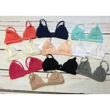 Trixie Lace Bralette: Multiple Colors