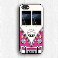 Pink Vw Bus iPhone 5s Case,Vw Bus iPhone 5 Case,Vw Bus IPhone 4 case,Vw Bus iPhone 5c case,Vw Bus Phone 4s case