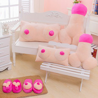 Hot Creative Tricky Plush Cushion Big Boobs Breast Toy Penis Dick Pillow Gift Couple Funny Gift Home Decor Erotic Pillow Cushion