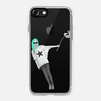 Girl WIth Dandelion (clear) iPhone 7 Case by Barruf | Casetify