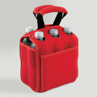 Insulated Six-Pack Holder, Red - World Market