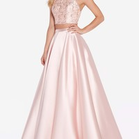 Alyce 60063 Two Piece Dress with Lace Top