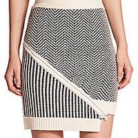 Opening Ceremony - Mixed-Stitch Zipper Skirt - Saks Fifth Avenue Mobile
