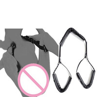 Black PU Leather Foot Cuffs Toys M Type Sex Bondage Restraints Kit Sex Toys For Couples Sex Products Erotic Toys Rope