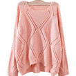 Pink Slouchy Knit Sweater