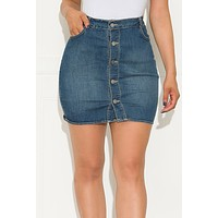 Fierce Flirt Denim Skirt