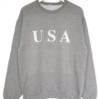 USA Oversized Sweatshirt - Grey