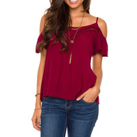 Timeless Boho Top - Burgundy
