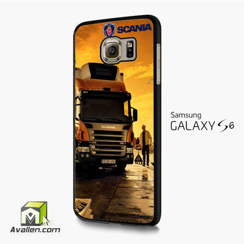 Afternoon Scania logo blue Cover Samsung Galaxy S6 /S6 Edge Case by Avallen