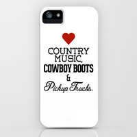 Love Country Music, Cowboy Boots & Pickup Trucks iPhone Case by Rex Lambo | Society6
