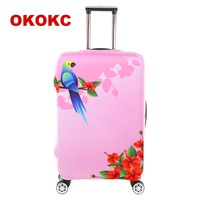 Cartoon Thick Travel Luggage Protective Covers For 18-30 Inch Suitcase Elastic Luggage Cover Suitcases Cover, Travel Accessories