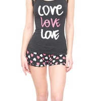2 PC LOVE PJ SET