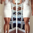Lace Jam Fitted Dress - White