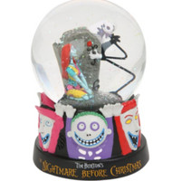The Nightmare Before Christmas Jack Skellington & Sally Water Globe