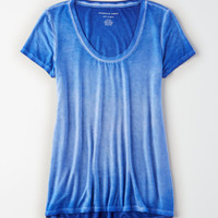 AE Soft & Sexy Scoop Neck T-Shirt, Blue