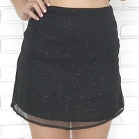 Party Girl Sparkle Mini Skirt