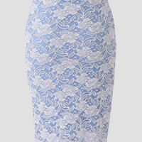 Courtyard Afternoon Lace Pencil Skirt