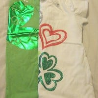 St Patrick's Day Girls T Shirt St Patty's Day Old Navy U Pick Green White Clover