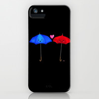 The Blue Umbrella iPhone & iPod Case by Sierra Christy Art