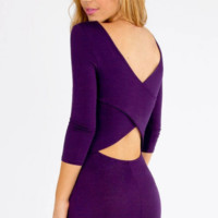 Hollow Out  Slim Bodycon Dress