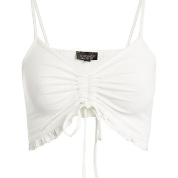 Ruched Frill Bralet - Clothing