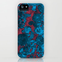 Roses Are Blue iPhone & iPod Case by Shawn King