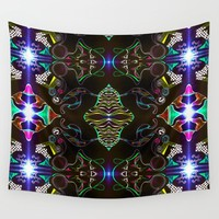 Dark City Wall Tapestry by Aaron Carberry