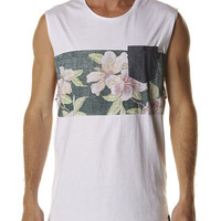 SURFSTITCH - MENS - TEES - MENS MUSCLE TEES - ST GOLIATH BAHAMA MUSCLE TEE - WHITE