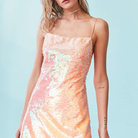 Kimchi Blue Sand Dollar Sequin Square-Neck Dress - Urban Outfitters