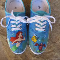 Hand Painted Shoes - The Little Mermaid