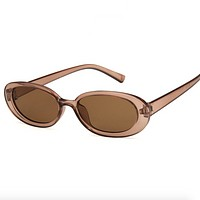 Transparent Retro Sunglasses