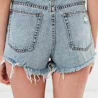 BDG Girlfriend High-Rise Distressed Denim Short – Indigo | Urban Outfitters