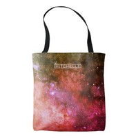 Personalized Red Stardust Tote Bag