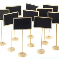 Chalkboard Wooden Table Stand, 7-Inch, 10-Piece
