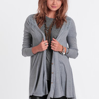 Hold On High-Low Cardigan