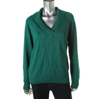 Karen Scott Womens Cotton Knit Pullover Sweater