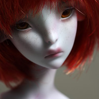 Ombre with 2 heads - Blue - Lillycat Cerisedolls®